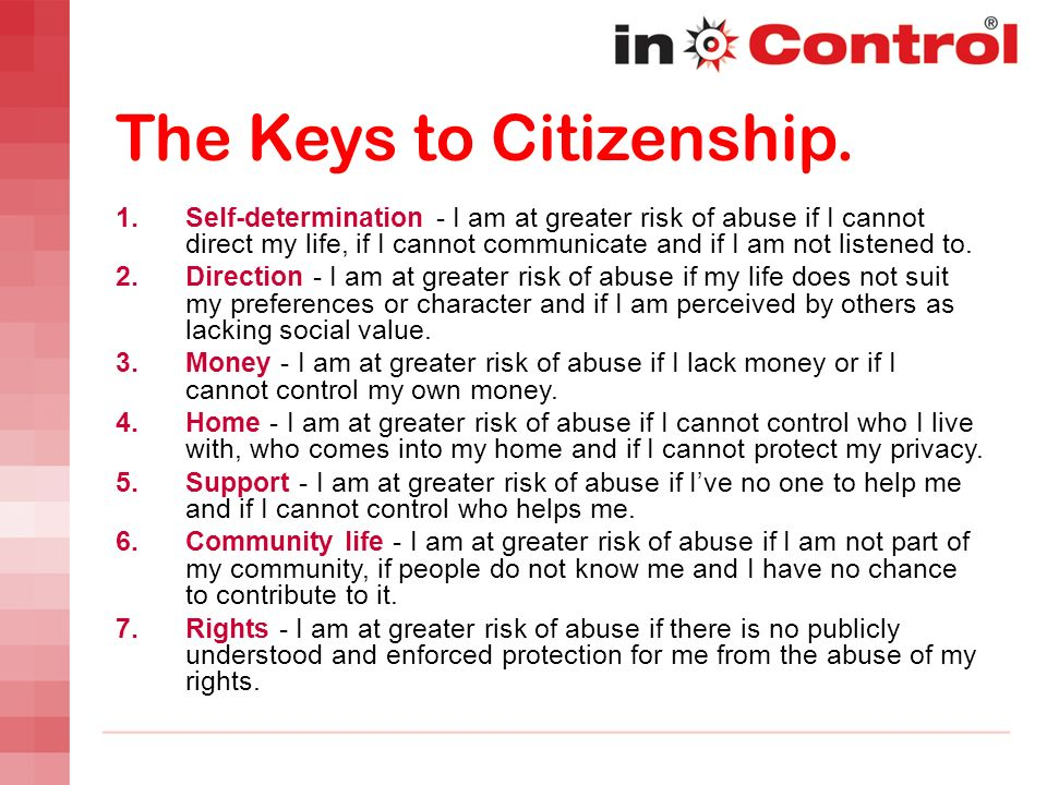 The Keys to Citizenship.