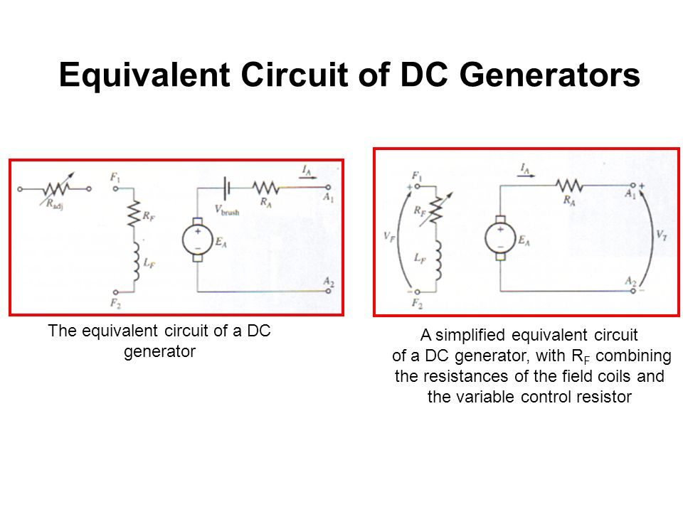 Shunt Generator Equivalent Circuit - Enthusiast Wiring Diagrams •