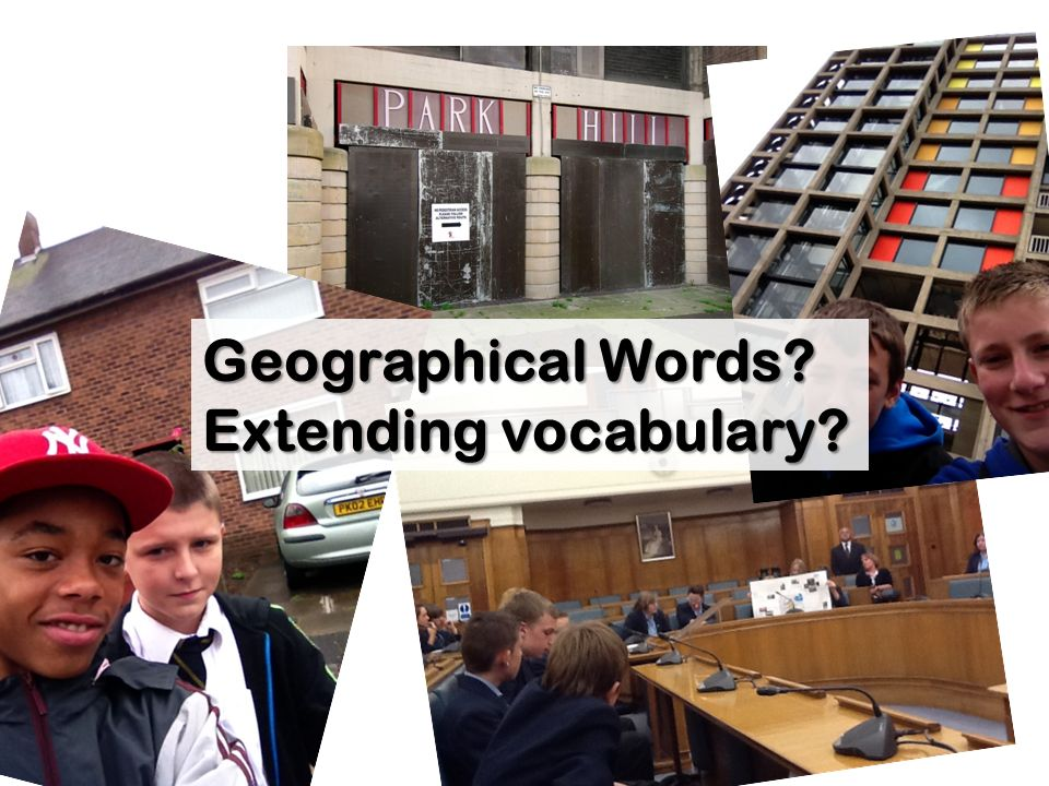 Geographical Words Extending vocabulary