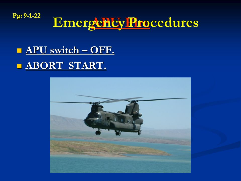 CH-47D Auxiliary Power Unit - ppt video online download