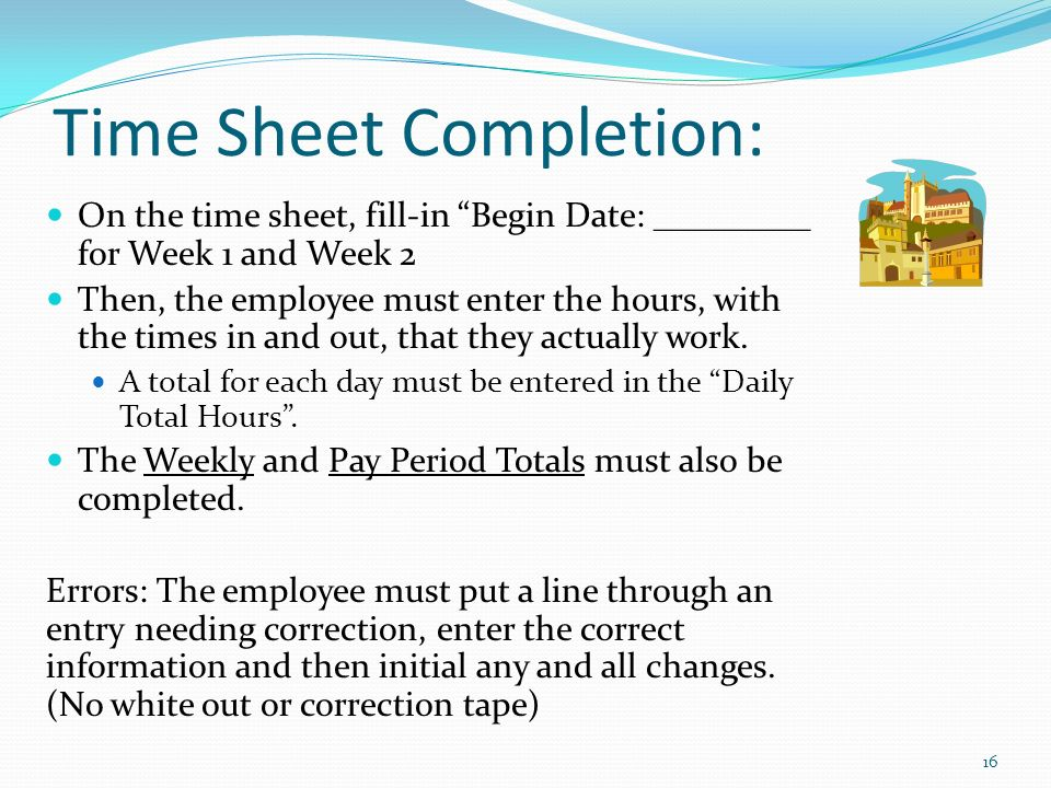 adjunct staff student time sheet completion with emphasis on