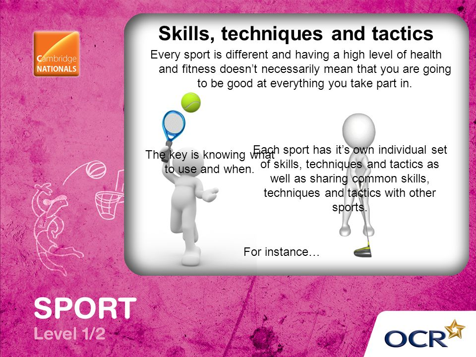 difference between skills and techniques in sport