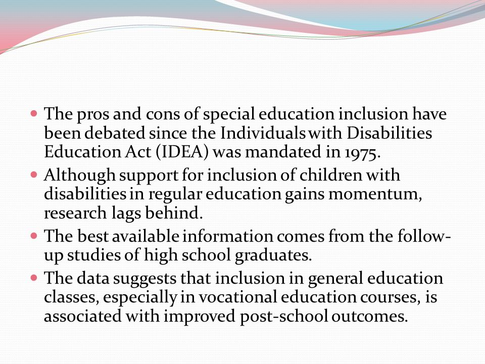 Special Education Inclusion: Pros Vs  Cons - ppt video