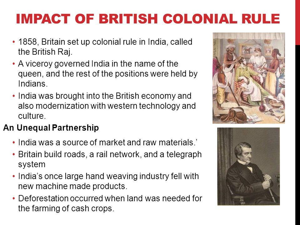 impact of british rule in india