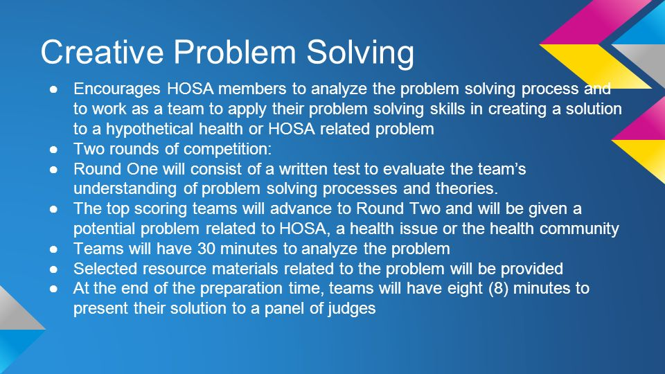 hosa competition creative problem solving