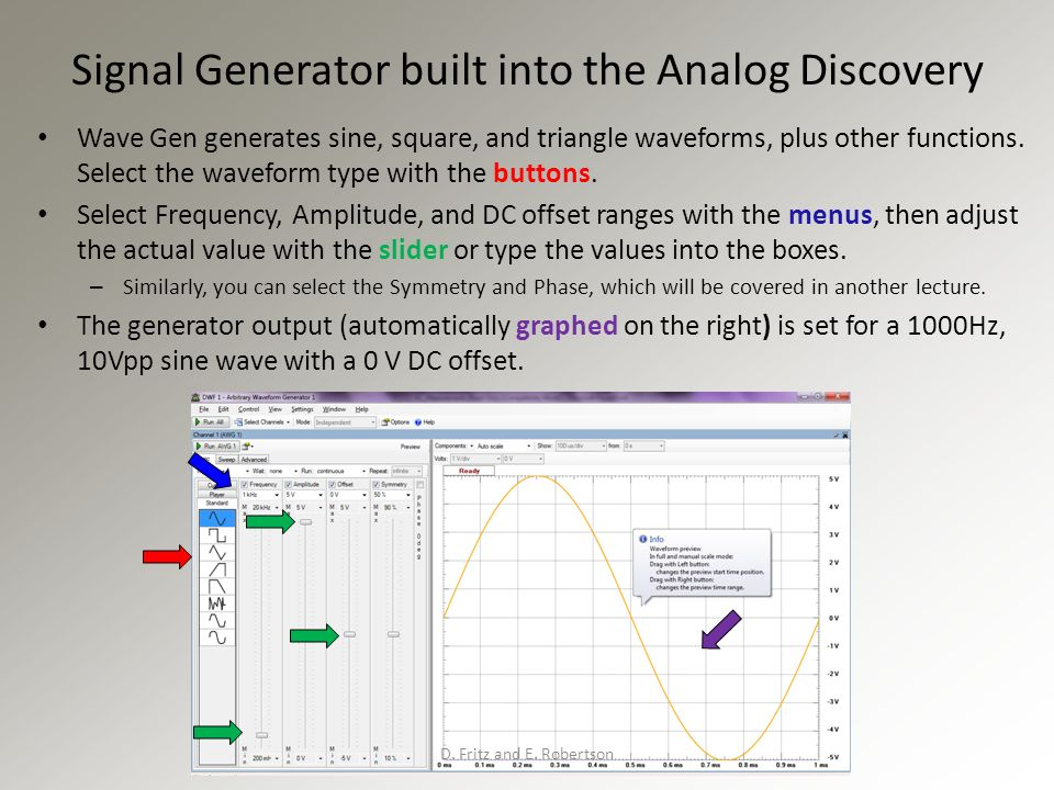 Analog Discovery Arbitrary Function Generator for Windows 7