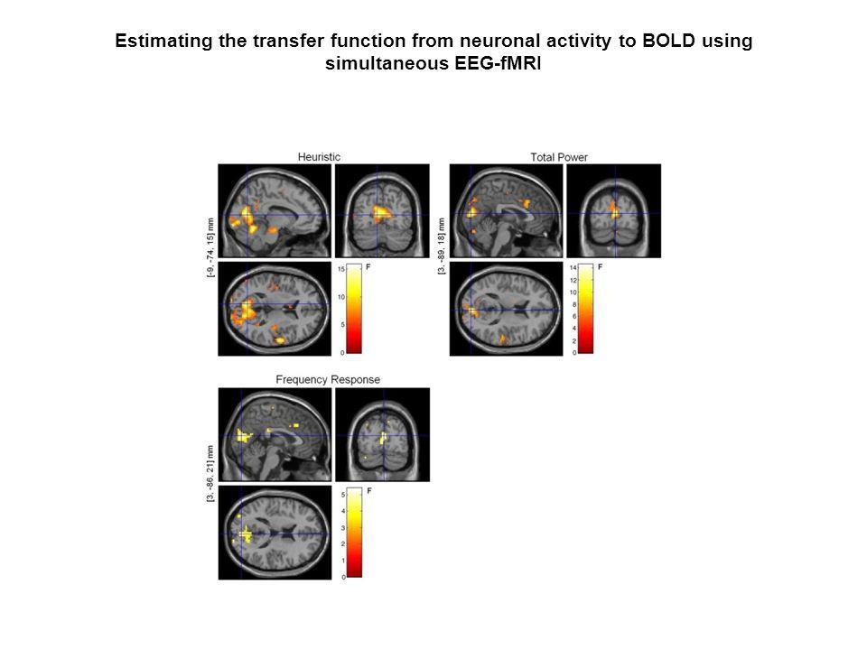 Estimating the transfer function from neuronal activity to BOLD using simultaneous EEG-fMRI