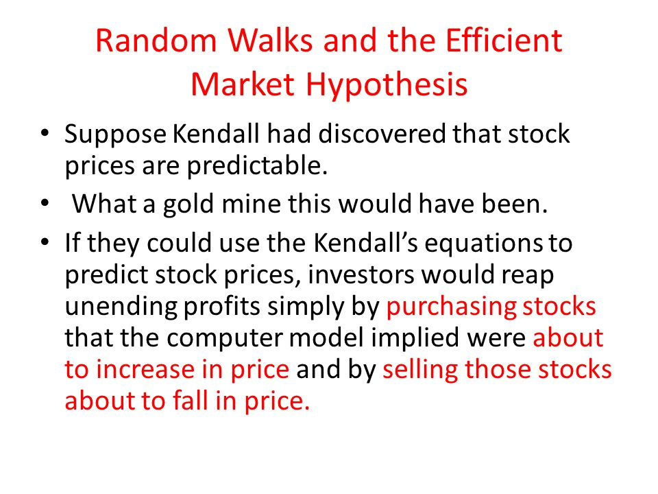 The efficient market hypothesis ppt download.