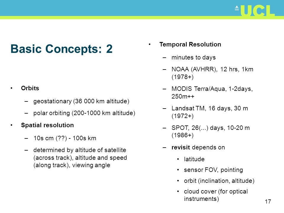 Basic Concepts: 2 Temporal Resolution minutes to days