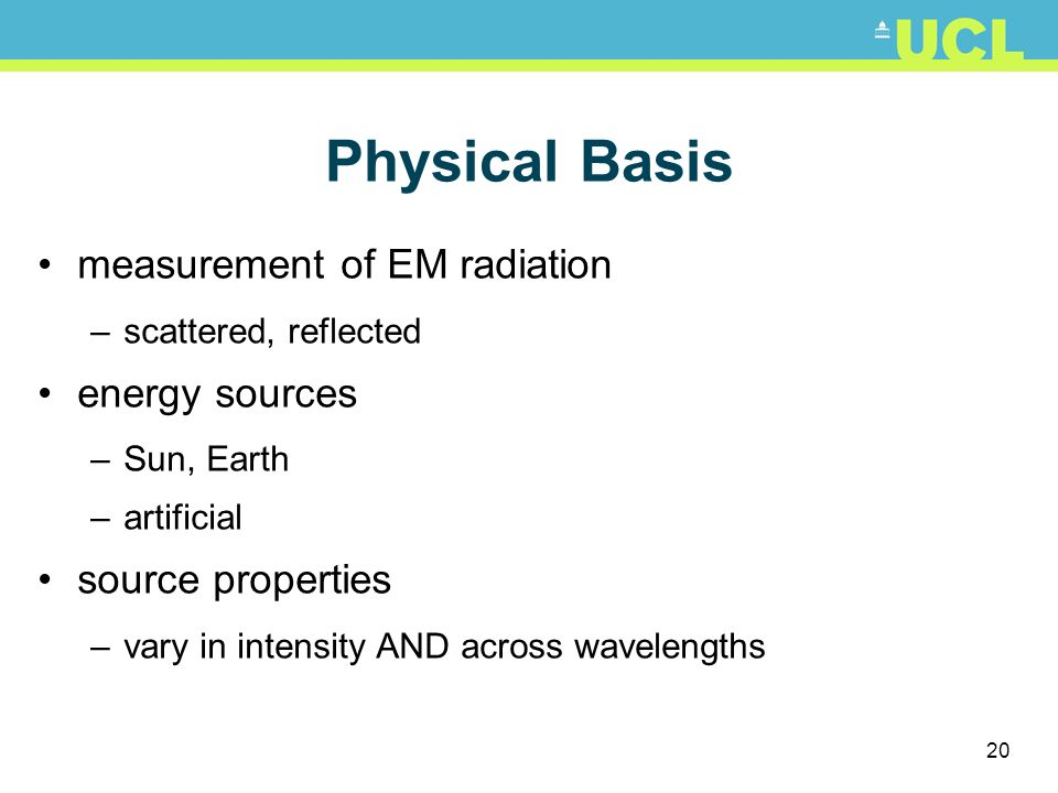 Physical Basis measurement of EM radiation energy sources