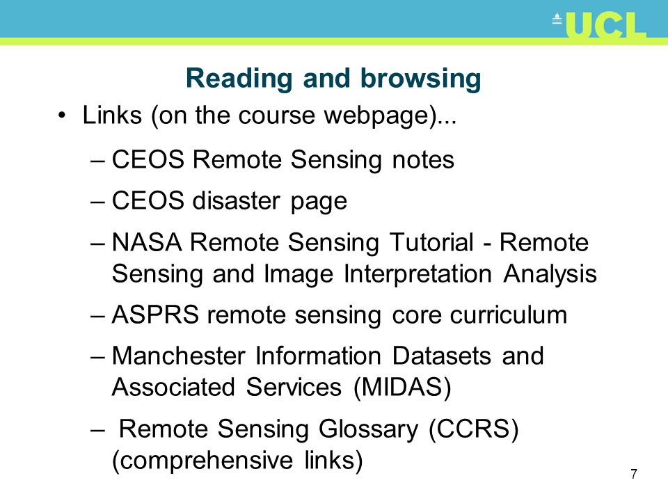 Reading and browsing Links (on the course webpage)...