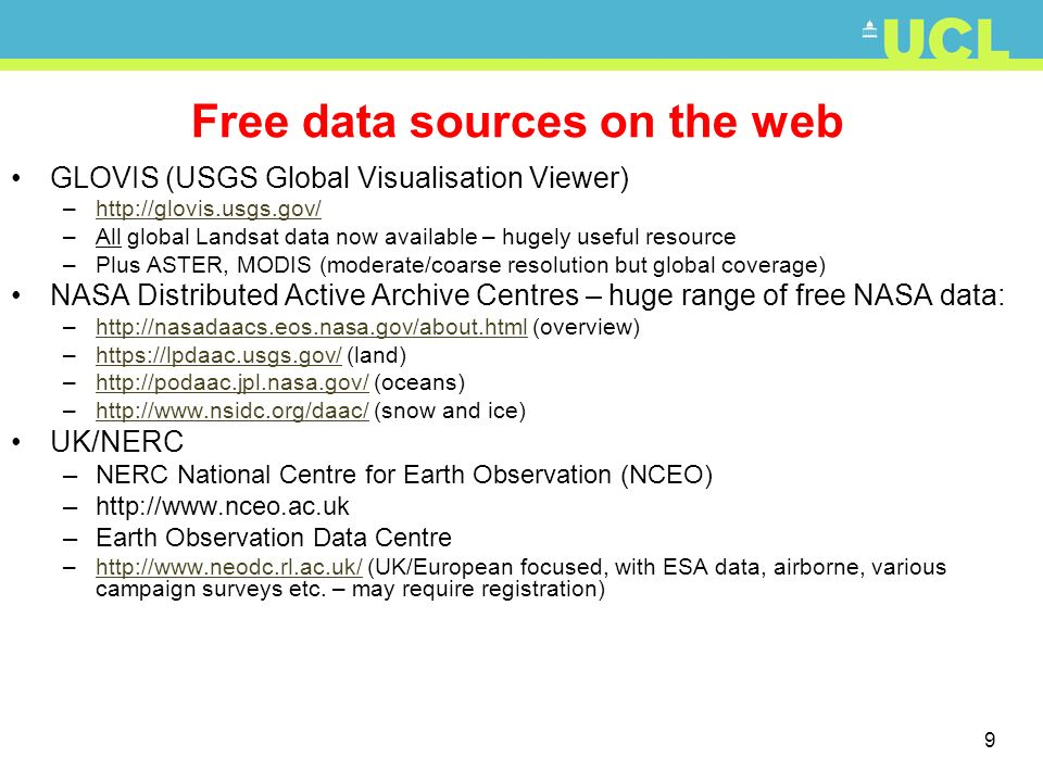 Free data sources on the web