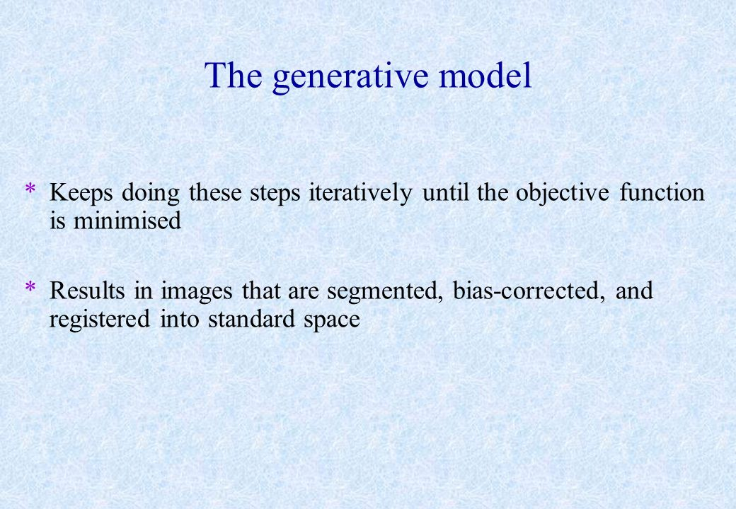 The generative model Keeps doing these steps iteratively until the objective function is minimised.