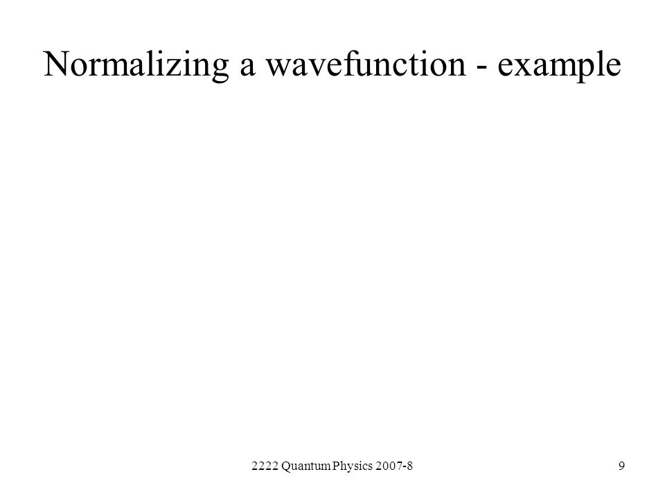 Normalizing a wavefunction - example