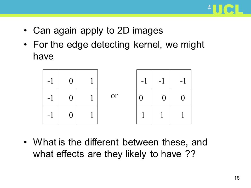 Can again apply to 2D images