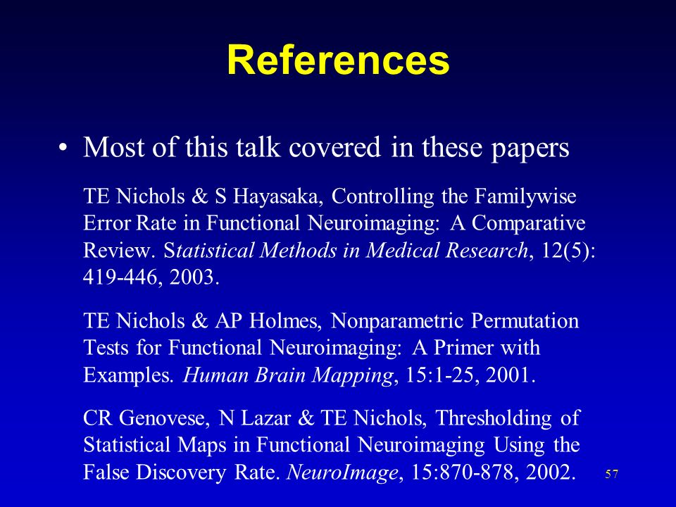 References Most of this talk covered in these papers