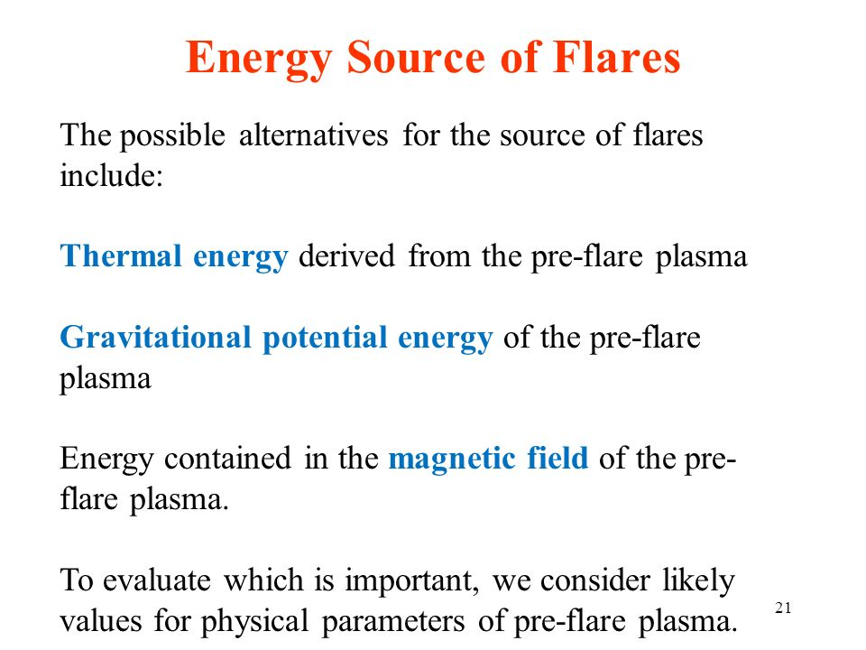 Energy Source of Flares