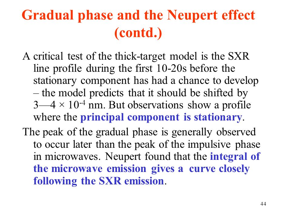 Gradual phase and the Neupert effect (contd.)