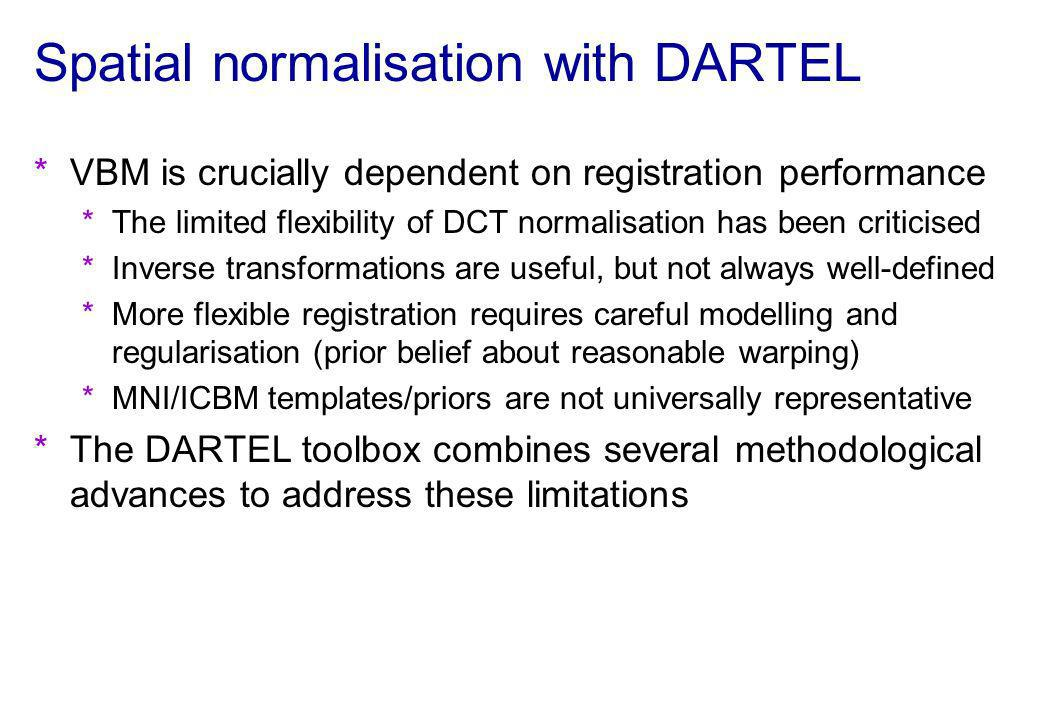 Spatial normalisation with DARTEL