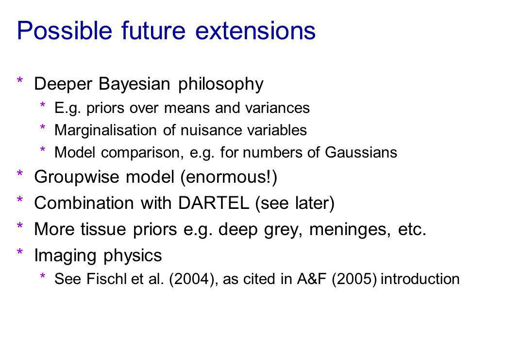 Possible future extensions