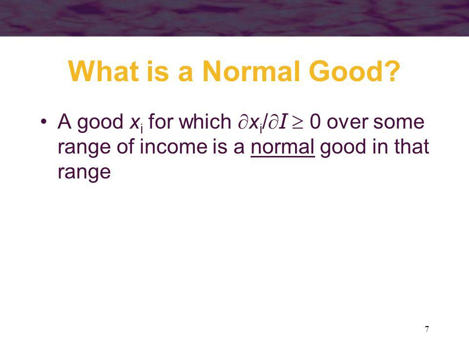 What is a Normal Good.
