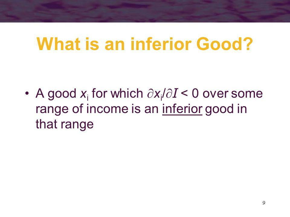 What is an inferior Good