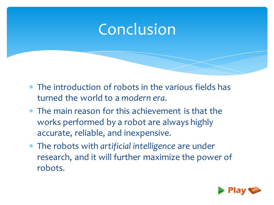 Introduction to robotics ppt download.
