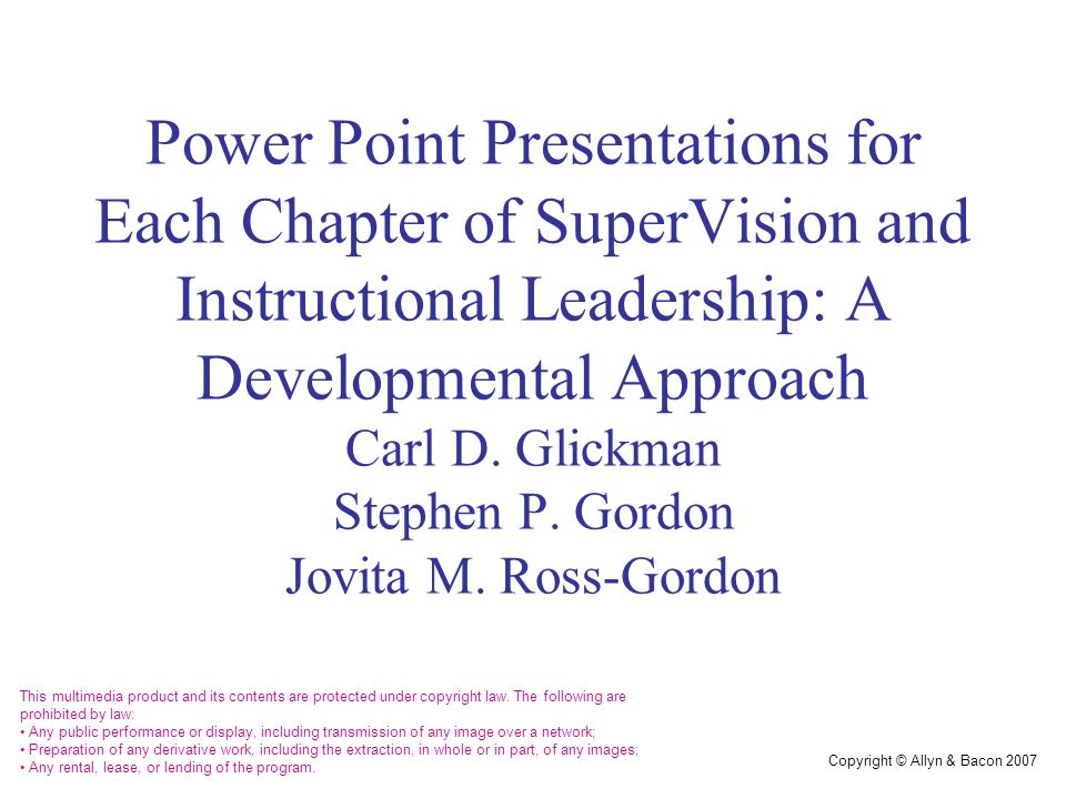 Chapter 12 Developmental Supervision Theory And Practice Ppt