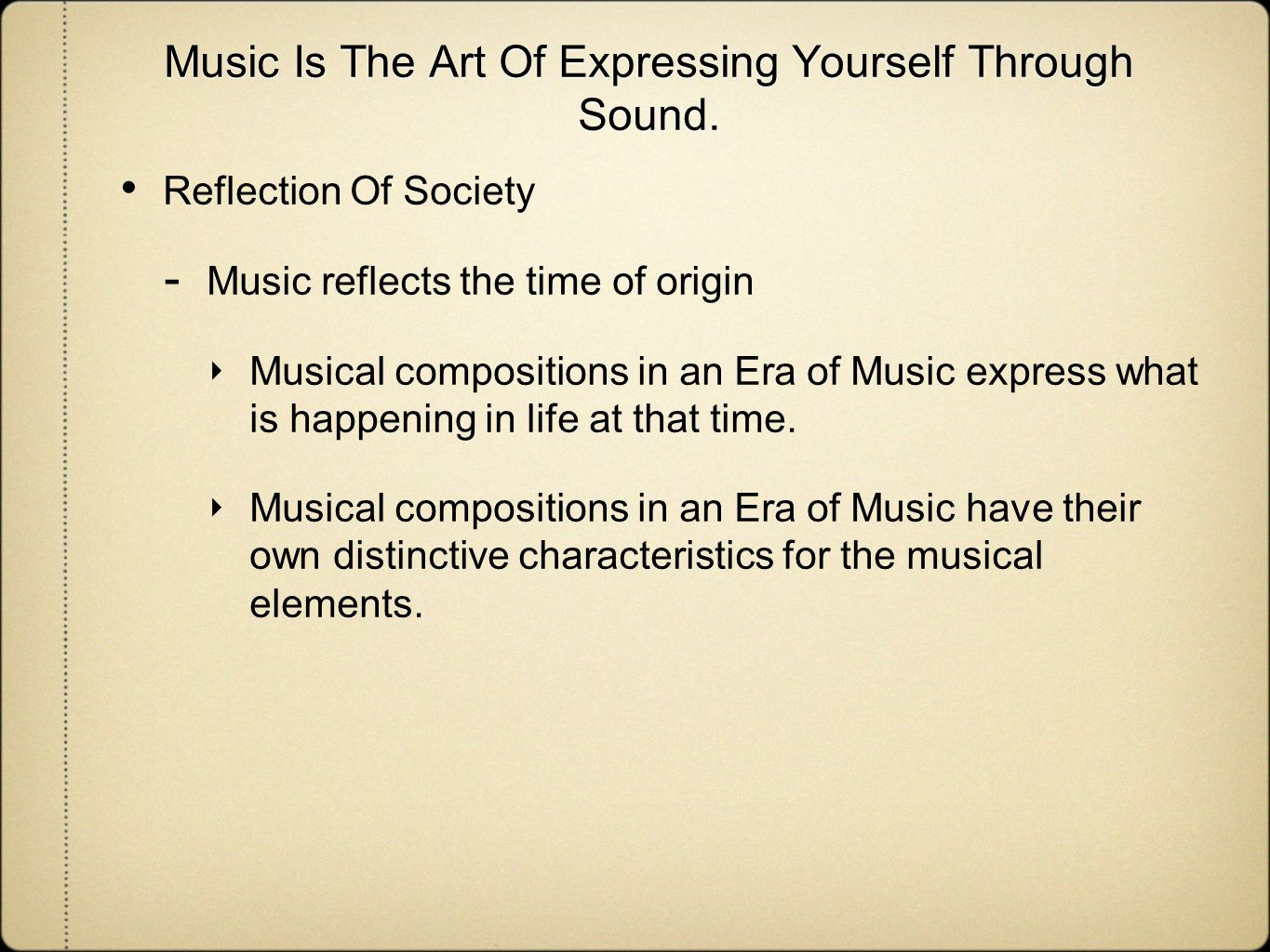 expressing yourself through music