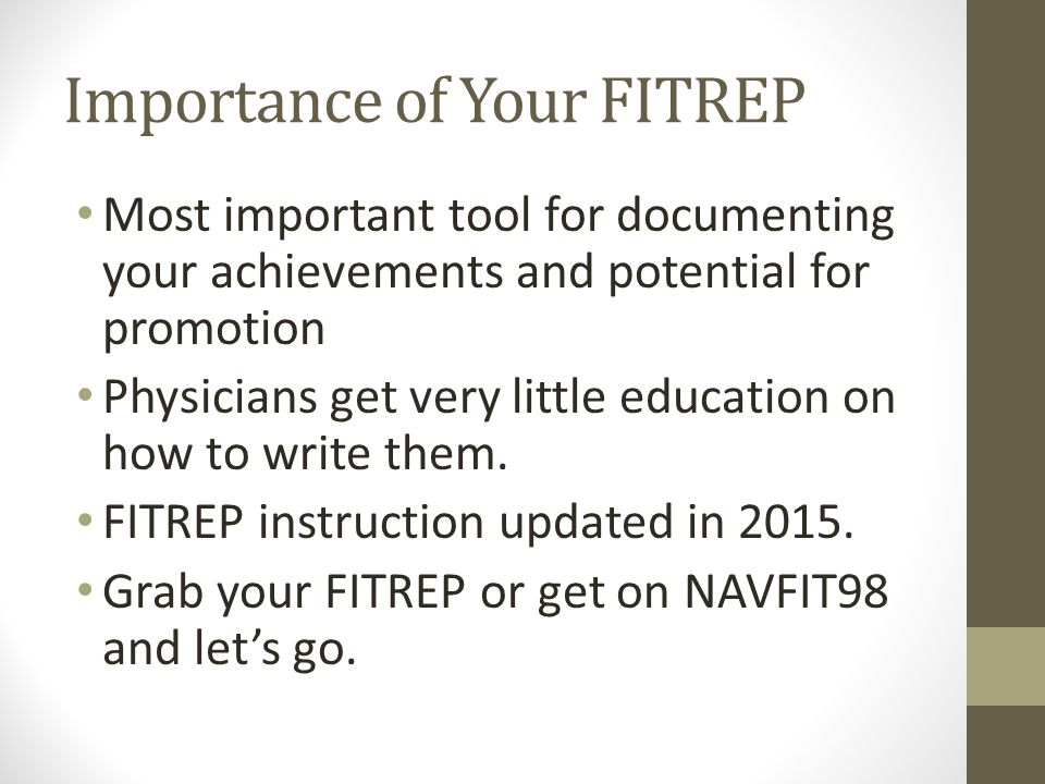 Episode 8 Basic Anatomy Of A Fitrep Ppt Video Online Download