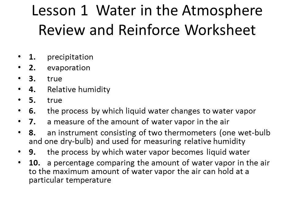 Water and the Atmosphere Chapter 4 Weather - ppt video online download
