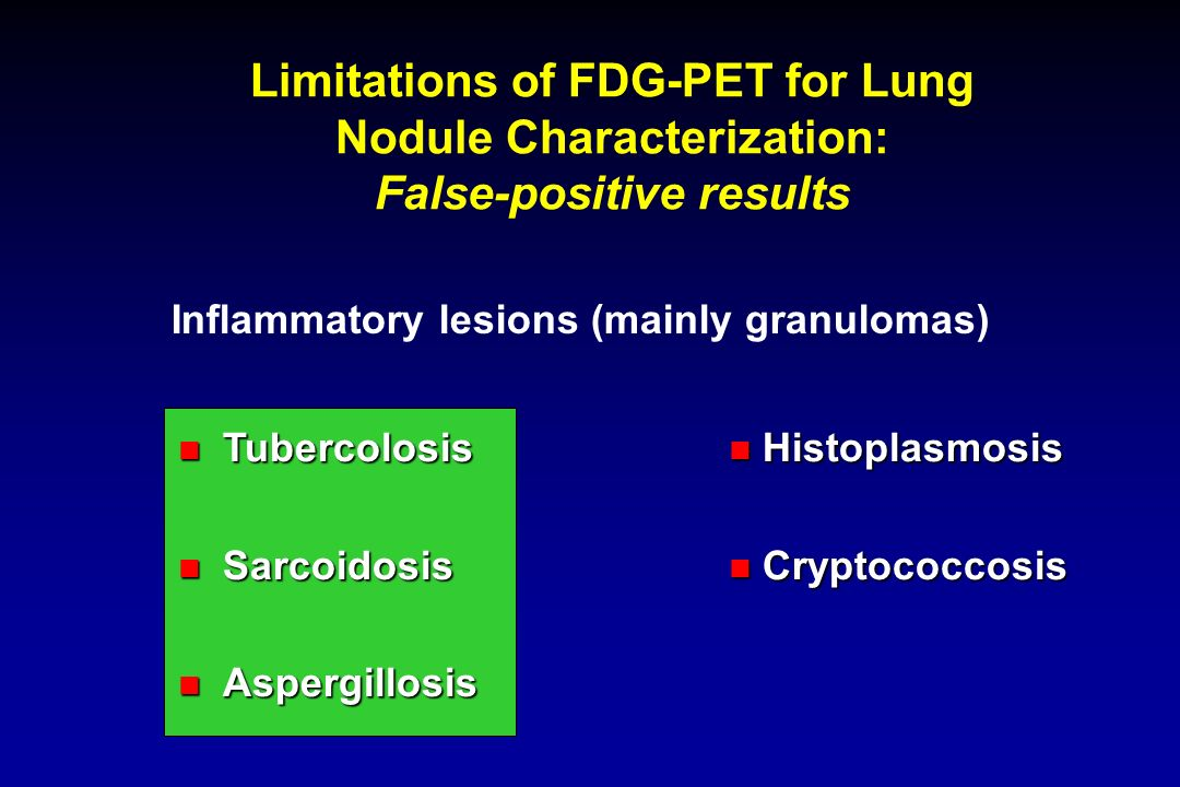 Limitations of FDG-PET for Lung Nodule Characterization: False-positive results