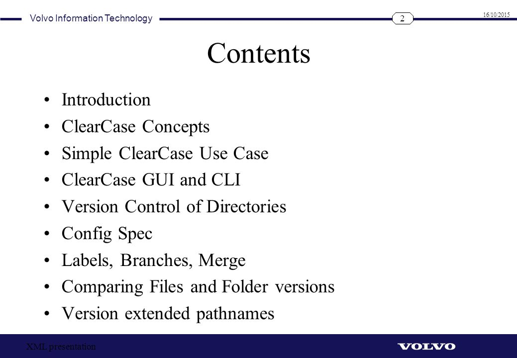 Contents Introduction ClearCase Concepts Simple ClearCase Use Case
