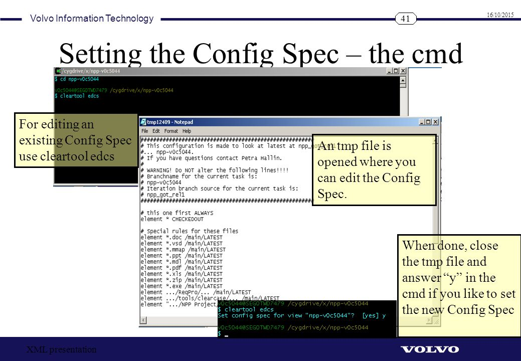 Setting the Config Spec – the cmd