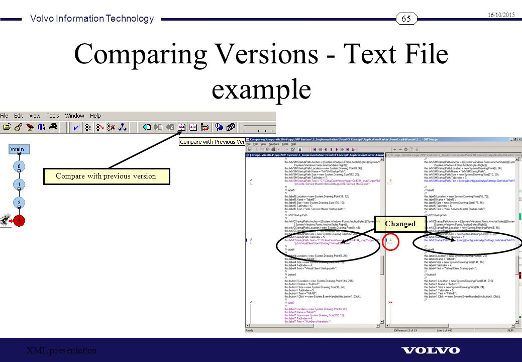 Comparing Versions - Text File example