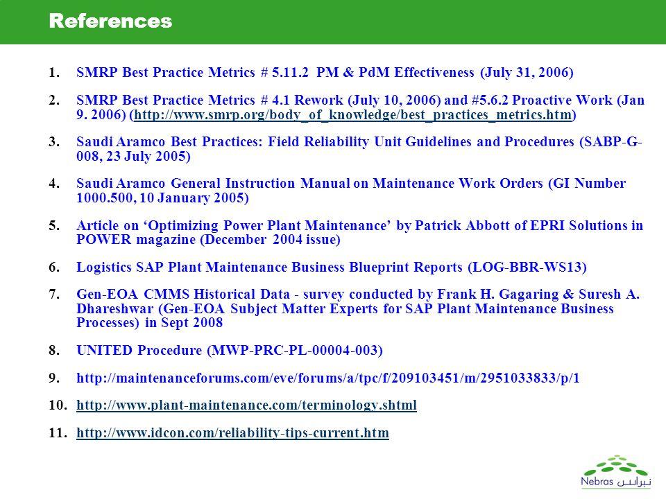 Fhg sad vjg ams sap pm generation team ppt download references smrp best practice metrics 5112 pm pdm effectiveness july 31 malvernweather Choice Image