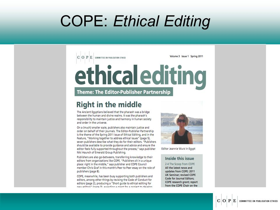 COPE: Ethical Editing 38