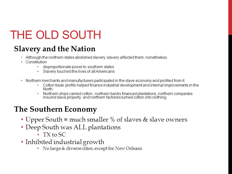 old south vs new south