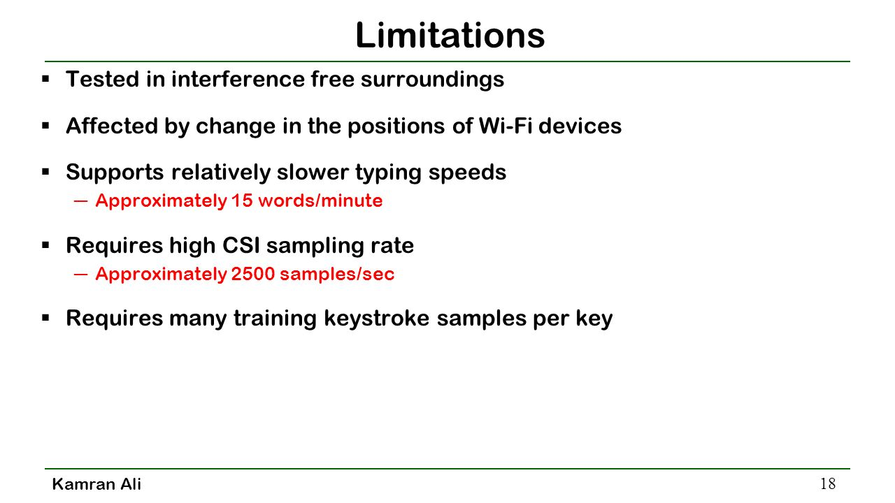 Keystroke Recognition using WiFi Signals - ppt video online
