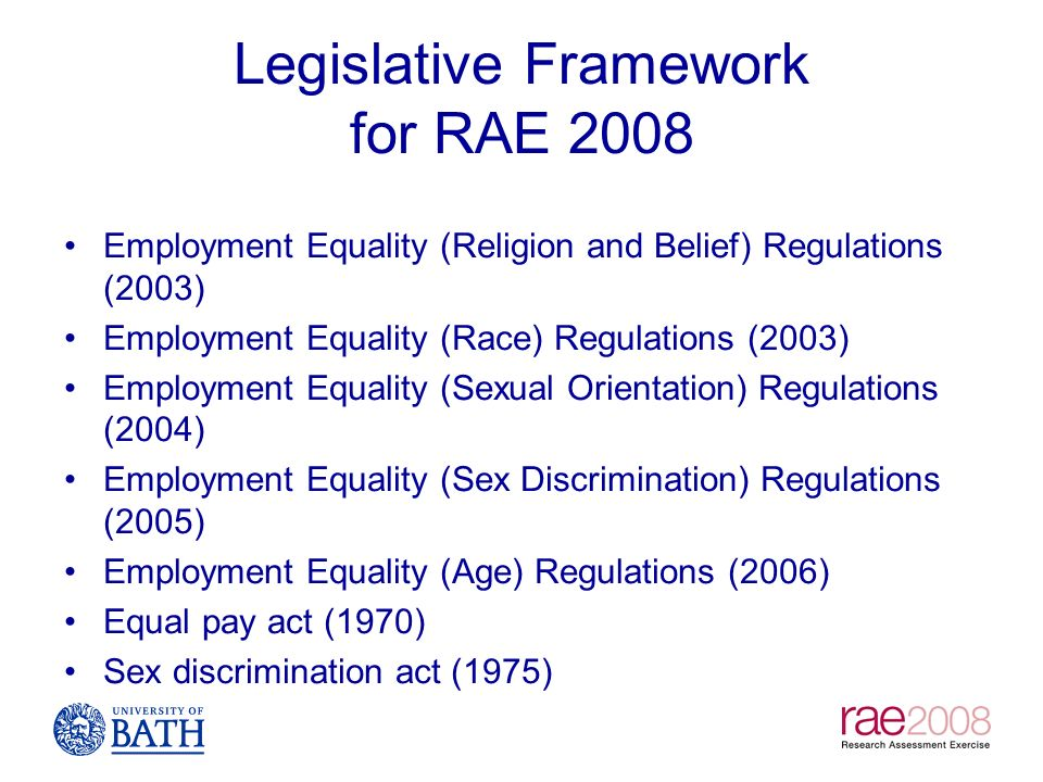 Sex discrimination act regulations