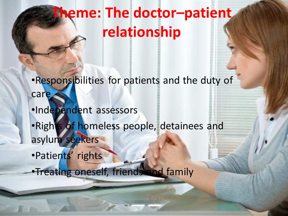 Theme The Doctor Patient Relationship