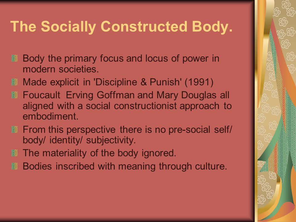 The Socially Constructed Body.