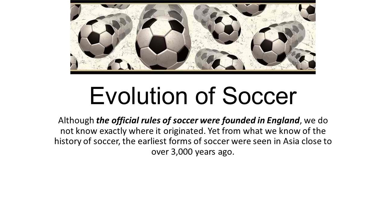 the history of soccer The history of soccer in the united states has numerous different roots the modern-day game is often considered to have been brought to the united states through ellis island in the 1870s.