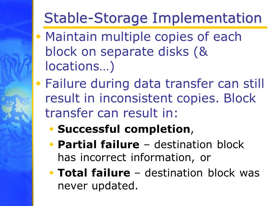 Stable-Storage Implementation