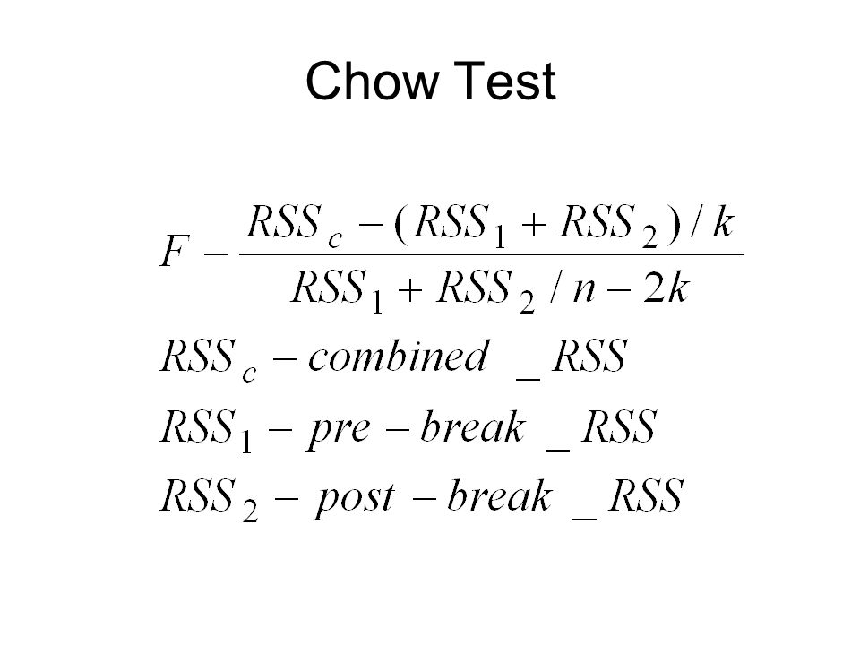 Chow Test