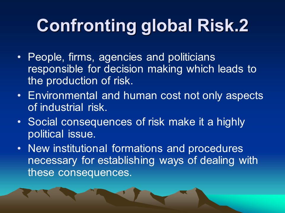 Confronting global Risk.2