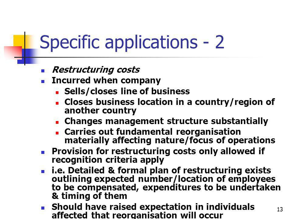 Specific applications - 2