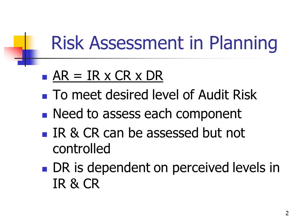 Risk Assessment in Planning