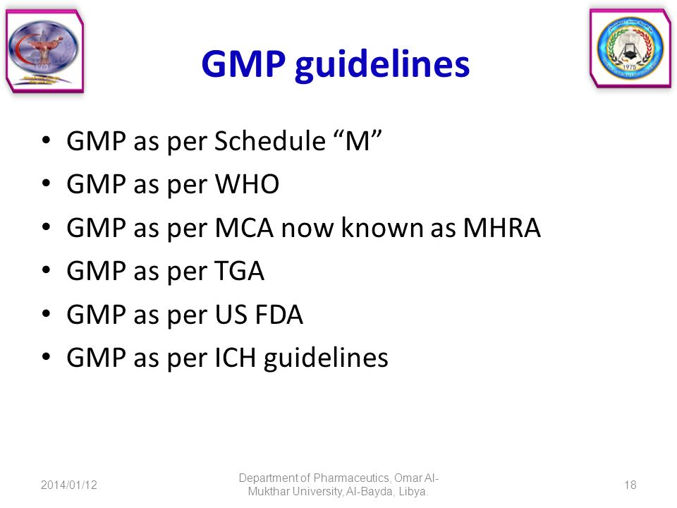 GOOD MANUFACTURING PRACTICES FOR PHARMACEUTICALS - ppt download