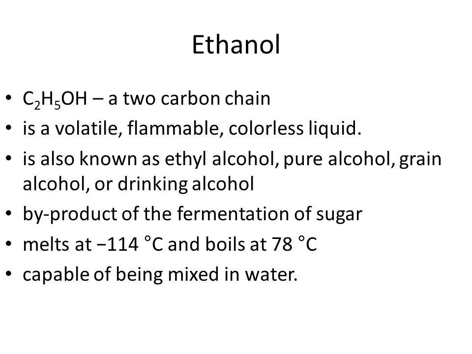 ethanol c2h5oh is a volatile and flammable